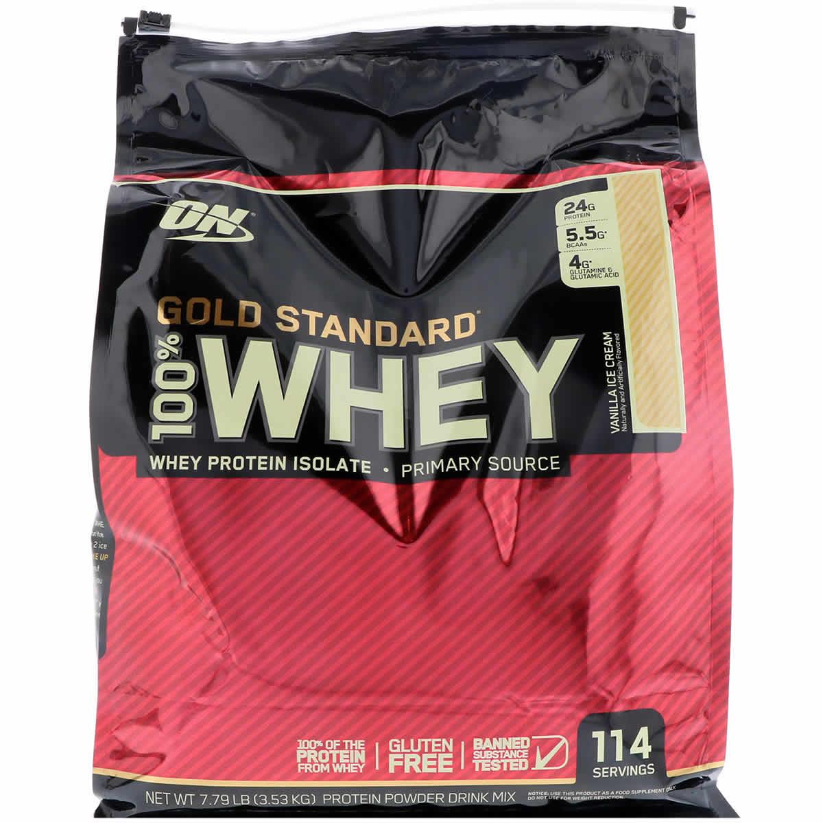 83dd4e775 Optimum Nutrition Gold Standard 100% Whey Protein Powder - 7.6 lbs ...